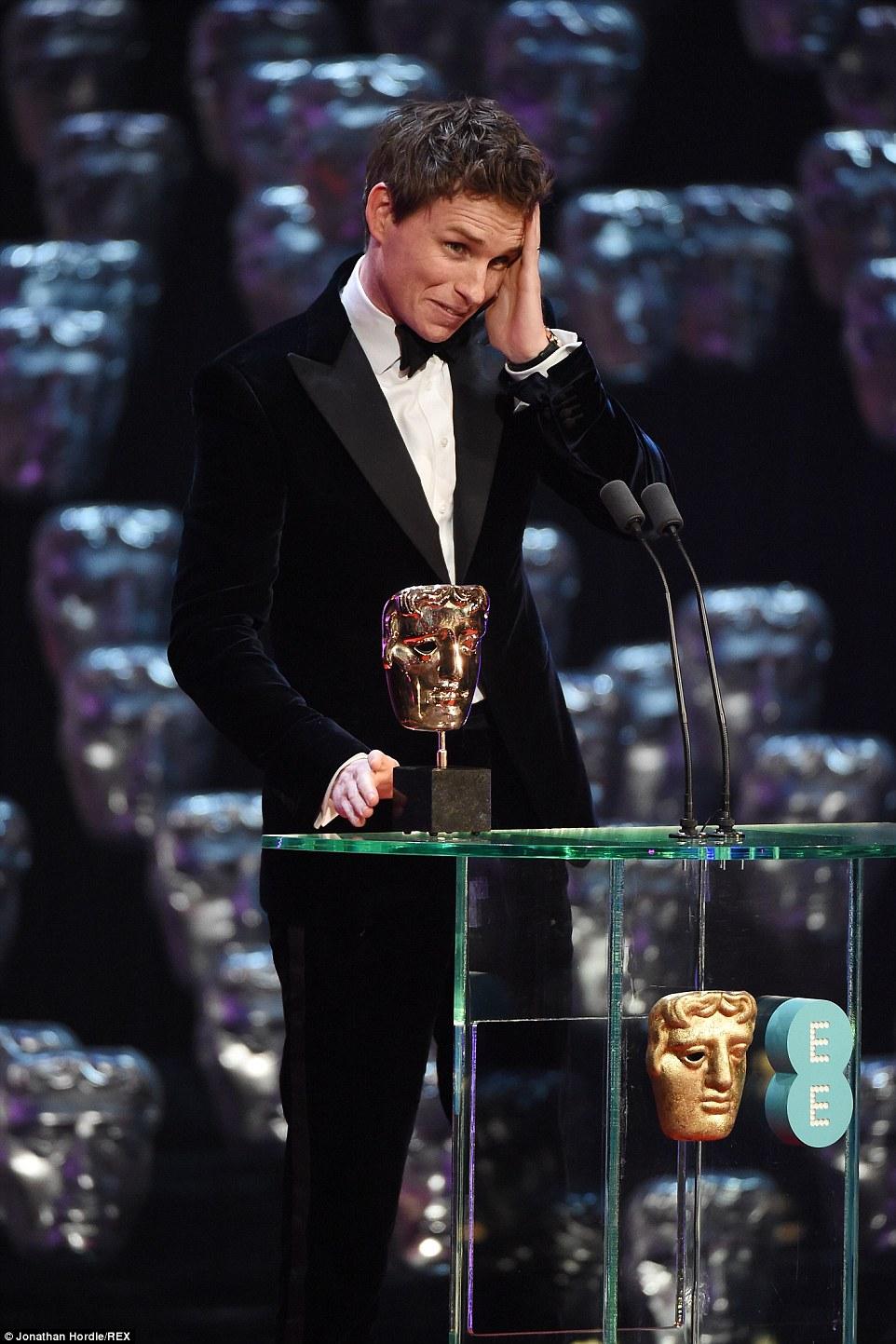 Eddie Redmayne at The BAFTA's